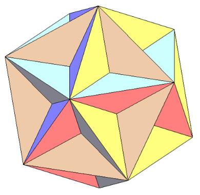 Как сделать третью форму звездчатого икосаэдра фото 182-47