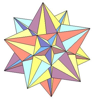 Как сделать третью форму звездчатого икосаэдра фото 182-374
